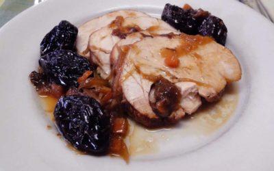 Llom de porc guisat amb prunes
